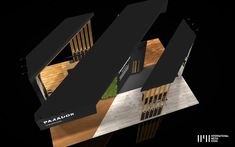 Parador Exhibition Stand on Behance Conceptual Model Architecture, Conceptual Sketches, Conceptual Design, Museum Exhibition Design, Exhibition Stands, Standing Signage, Street Marketing, Guerrilla Marketing, Behance