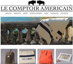 """[BOUTIQUE DE LA SEMAINE] """"Le comptoir Américain""""  LE COMPTOIR AMERICAIN est le site de vente en ligne d'une sélection de beaux produits issus des meilleurs manufactures américaines  http://www.lecomptoiramericain.com/fr/"""