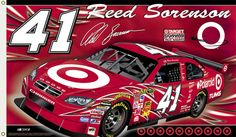 Reed Sorenson REED NATION Giant 3'-by-5' Banner Flag - 2008 #41 Target Dodge Charger -available at www.sportsposterwarehouse.com