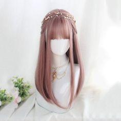 Pelo Lolita, Lolita Hair, Kawaii Hairstyles, Pretty Hairstyles, Wig Hairstyles, Fantasy Hairstyles, Anime Wigs, Anime Hair, Cosplay Hair