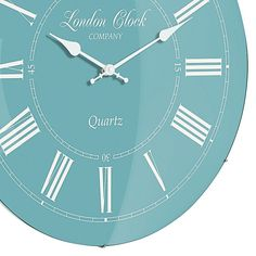 Soft colour and a sophisticated silent movement make the Emma Roman Wall Clock, 42cm from London Clock Company a delightful vintage addition to your home.
