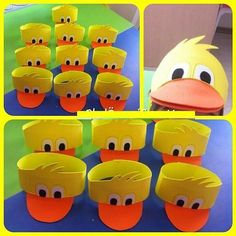 Spring Craft Ideas for Kids - Cute and Easy Spring Crafts! Duck Crafts, Farm Crafts, Easter Crafts, Preschool Crafts, Crafts For Kids, Arts And Crafts, Duck Costumes, Headband Crafts, Diy Ostern