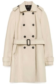 A trench coat is lightweight yet waterproof, structured yet comfortable, and a classic statement in any neutral color. Pop this over just about anything to complete the outfit. Zara Water Repellent Trench Coat, $129; zara.com