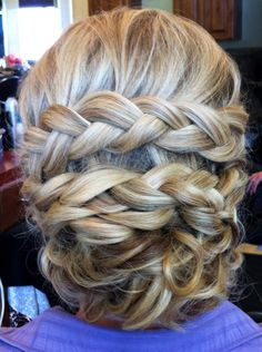 wrap around braid for my bridesmaids.