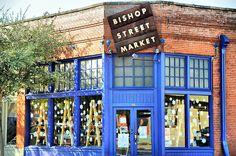 Bishop Arts District Oak Cliff Dallas Texas Storefronts Restaurants Art Gallery Street Market