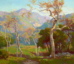 """California Autumn; Ojai Valley"" Marion Kavanagh Wachtel, ca. 1930, oil on canvas, 28 x 30"", American Legacy Fine Arts."