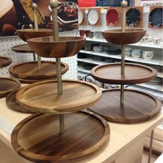 Tiered, wooden $50 at Target Wooden Serving Trays, Cupboard, Target, Home, Clothes Stand, Wooden Trays, Armoire, Crockery Cabinet, Ad Home