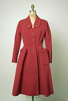 Coat  House of Dior  Designer: Christian Dior   Date: ca. 1948
