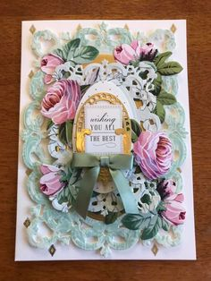 Anna Griffin Cards, Card Kit, Decoupage, Card Making, Bloom, Paper Crafts, Handmade Cards, Birthday, Frame
