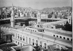 Masjid al-Haram - Mecca in 1910 Masjid Al Haram, Mecca City, Pilgrimage To Mecca, Saints, Grand Mosque, Islamic Architecture, Jeddah, Ottoman Empire, Place Of Worship