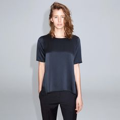 FWSS Sweet Dreams is a loose-fit t-shirt with a clean finish and silk front. The collar and arms are finished with baby overlock. Fall Winter Spring Summer, Sweet Dreams, Loose Fit, Arms, It Is Finished, Silk, T Shirt, Baby, Clothes