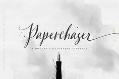 Paperchaser Calligraphy | SALE! by Callie Hegstrom on @creativemarket