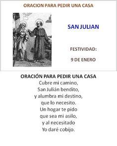 San Julián, oración para pedir una casa.