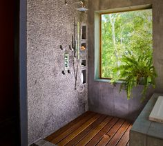 Here ya go! Hemp crete bathroom, cinder block or hempcrete block shower and bath.   It CAN be done  :-)