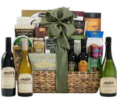 Nothing beats a great wine gift basket.
