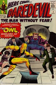 """Inside trader """"Owl"""" Owlsley hires Matt Murdock to serve as a mouthpiece, see? (No, Matt does not see, get it?) At that point, the Owl's hooters try to rub him out. They picked the wrong shyster to erase from Crain's Law Review."""