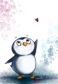 Cute penguin drawing! :D