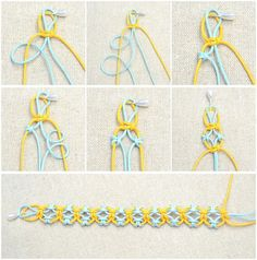In this easy diy jewelry tutorial, you will be taught how to knit a friendship bracelet with lark's knots. This idea is just a simple way to DIY friendship bracelet.