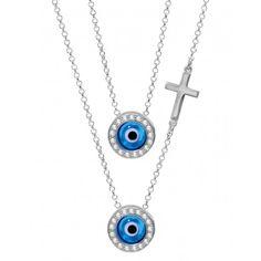 Celebrity Lucky Eye Necklace Evil Eye Jewelry, Evil Eye Necklace, Evil Eye Bracelet, Britney Spears, Jewelry Making, Pendant Necklace, Sterling Silver, Eyes, Stone
