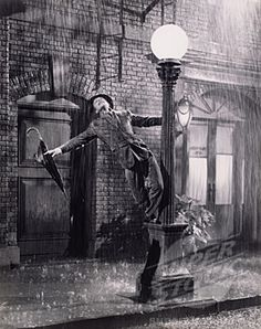 "Gene Kelly. The film, ""Singing in the Rain"""