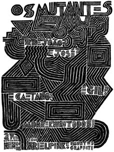 Gig poster: Os Mutantes by Devon Varmega