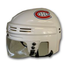 Montreal Canadiens Official Licensed Mini Player Helmets - (White)