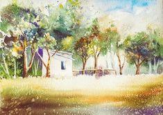 Watercolor Original Painting