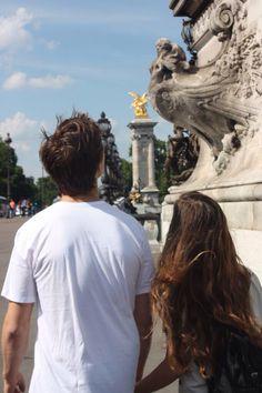 Ansel Elgort & Violetta Komyshan in Paris