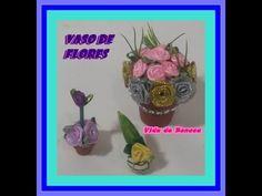 Idéias de vasinhos de flores para casa de boneca (como fazer)
