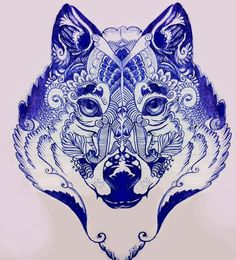 Wolf (Pen Sketch) by CharlyBluecannon on deviantART