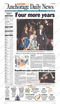 Obama's Re-Election Lead Newspaper Front Pages (PHOTOS ...
