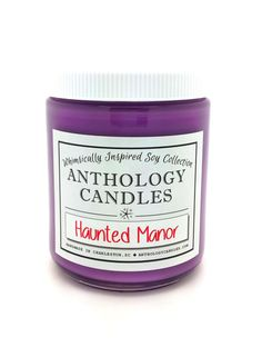 Haunted Manor Candle  Anthology Candles Disney by AnthologyCandles