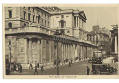 The bank of England. Angleterre. Banque.