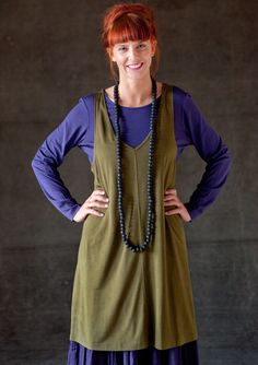Tunic in solid colour silk – Gudrun´s green choices – GUDRUN SJÖDÉN – Webshop…