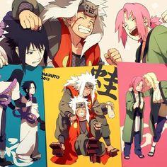 The Legendary Sannin and Team 7