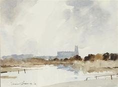 Artist: Edward Wesson (British, 1910–1983) Title:Blythborough Church, Suffolk , 1980 Medium:watercolorSize:27.5 x 37 cm. (10.8 x 14.6 in.)