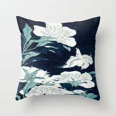 Pillow Cover Throw Pillow Blue Pillow Dark by 2sweet4wordsHome