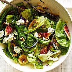Fig, Hazelnut, and Goat Cheese Salad - Favorite Fresh Fig Recipes - Sunset