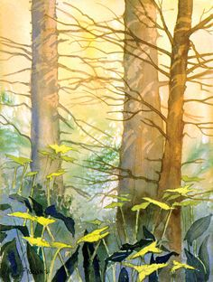 Pale Forest by Teresa Ascone - Pale Forest Painting - Pale Forest Fine Art Prints and Posters for Sale