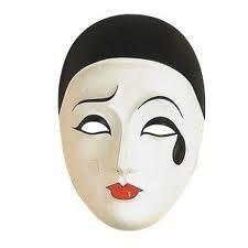 Maschera tradizionale di Carnevale: Pierrot