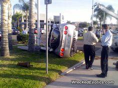 Chevrolet Corvette C6 crashed in Escondido, California