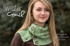 Create a Cozy Cardigan Cowl and Boot Socks From an Old Sweater | eHow Crafts | eHow