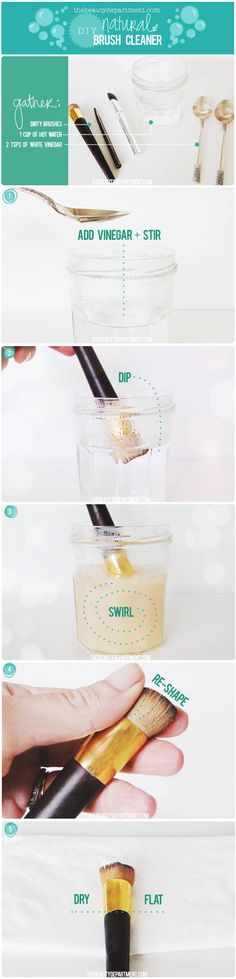 thebeautydepartment.com diy natural brush cleaner