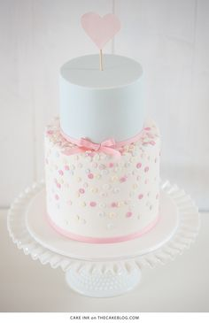 10 Confetti Throwing Cakes | including this design by Cake Ink | on TheCakeBlog.com