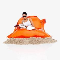 FATBOY the outdoor beanbag in orange by Fatboy at the Fatboy Bean Bag UK shop £210.00