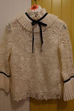 Erdem x H&M Cream Lace Blouse With Ruffle Detail UK 10 | Clothes, Shoes & Accessories, Women's Clothing, Tops & Shirts | eBay!