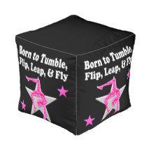 BORN TO TUMBLE, LEAP AND FLY GYMNAST CUBE POUF http://www.zazzle.com/mysportsstar/gifts?cg=196751399353624165&rf=238246180177746410  # #Gymnastics #Gymnast #IloveGymnastics #Gymnastgifts #WomensGymnastics