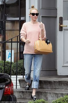 Pretty as a picture:Kate Bosworth headed to Gracias Madre in West Hollywood on Monday...