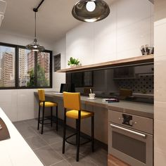 Another Modern Design HDB BTO Flat With Open Concept Kitchen Which Results In A Three Room Setting Combined Into One The Living Area And