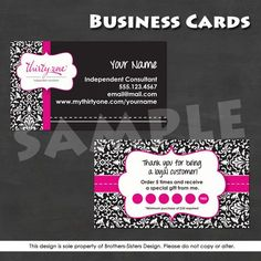 Thirty-One Business Card - NEW DESIGN